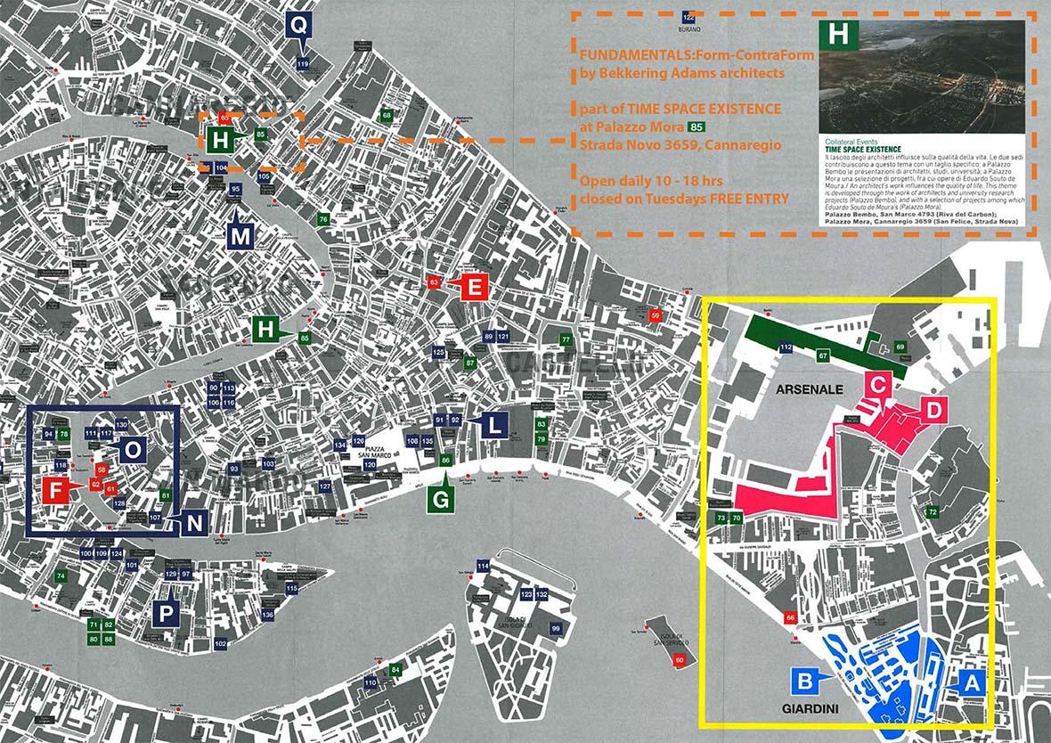 News Bekkering Adams Architecten - Venice biennale 2016 map